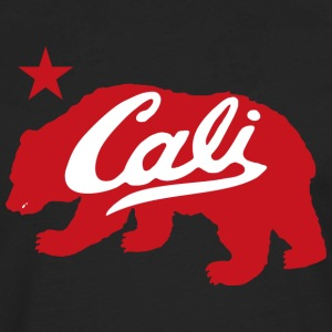 Cali Red Bear Hoodies - Men's Premium Long Sleeve T-Shirt