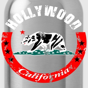 Hollywood California T-Shirts - Water Bottle