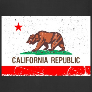 california Vintage Flag T-Shirts - Adjustable Apron