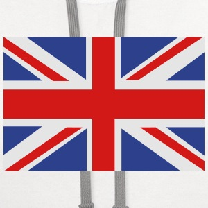 British Flag Women's T-Shirts - Contrast Hoodie