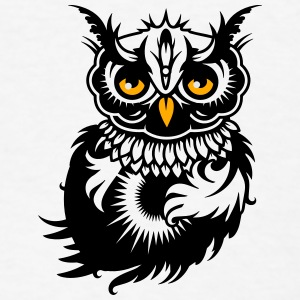 A dark owl Buttons - Men's T-Shirt