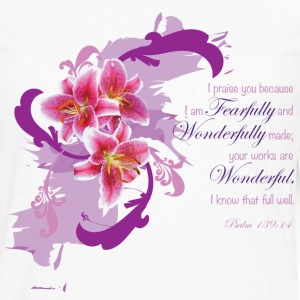 Psalm 139:14 Women's Shirt - Men's Premium Long Sleeve T-Shirt