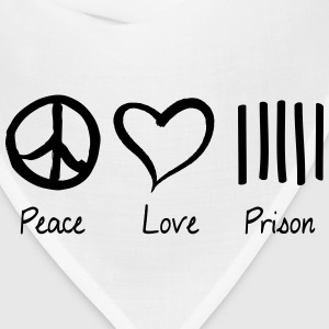 Peace Love Prison Women's T-Shirts - Bandana