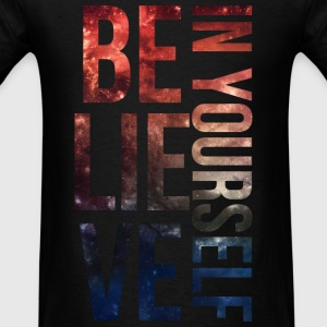 BELIEVE IN YOURSELF Galaxy Long Sleeved Shirt - Men's T-Shirt