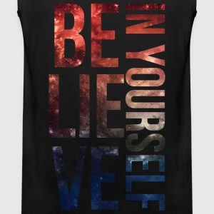 BELIEVE IN YOURSELF Galaxy Long Sleeved Shirt - Men's Premium Tank
