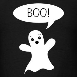 Cute Ghost Says Boo Dog T-Shirts - Men's T-Shirt
