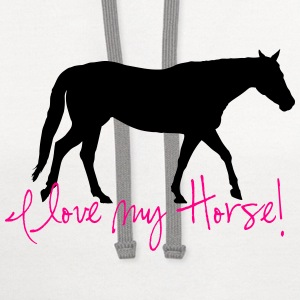 I love my Horse  Phone & Tablet Cases - Contrast Hoodie