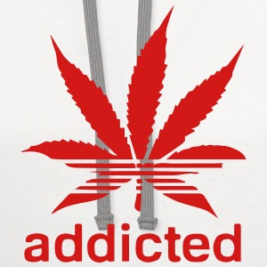 WEED ADDICTED T-Shirts - Contrast Hoodie