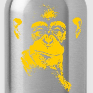 thinking chimpanzee - Water Bottle