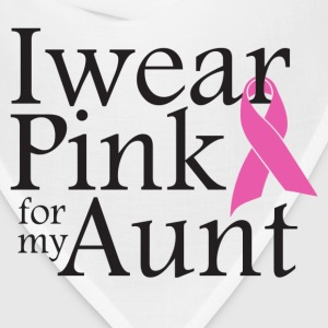i wear pink for my aunt - Bandana