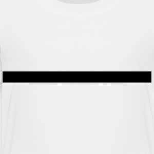 Line, very thick, underlined, underlines, straight Kids' Shirts - Toddler Premium T-Shirt