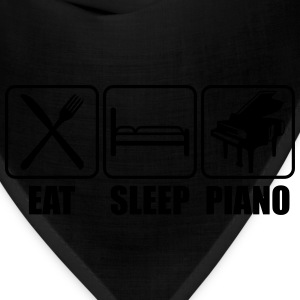 Eat Sleep Piano Logo T-Shirts - Bandana