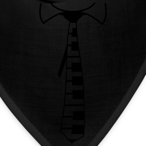 Piano Tie Design T-Shirts - Bandana