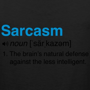 Sarcasm Definition T-Shirts - Men's Premium Tank
