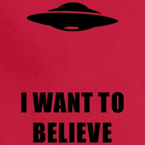 I want to believe Women's T-Shirts - Adjustable Apron