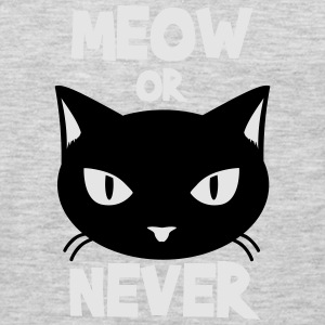 Meow or never Sweatshirts - Men's Premium Long Sleeve T-Shirt