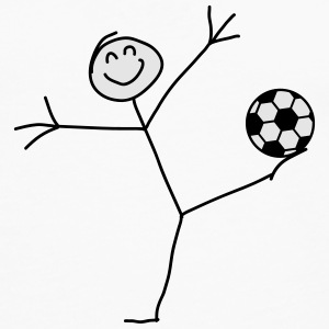 Funny Soccer Goal Shot Stick Figure Women's T-Shirts - Men's Premium Long Sleeve T-Shirt