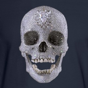 diamond_skull_1 T-Shirts - Men's Long Sleeve T-Shirt