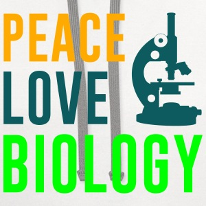 Peace Love Biology Women's T-Shirts - Contrast Hoodie