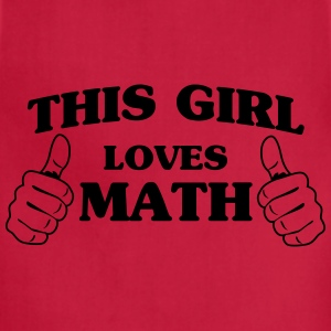 This girl loves math Women's T-Shirts - Adjustable Apron