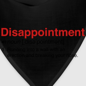 Disappointment Definition Women's T-Shirts - Bandana