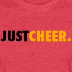 Just Cheer Tanks - Fitted Cotton/Poly T-Shirt by Next Level
