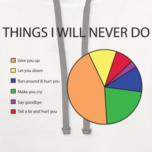 Things I will never do pie chart T-Shirts - Contrast Hoodie