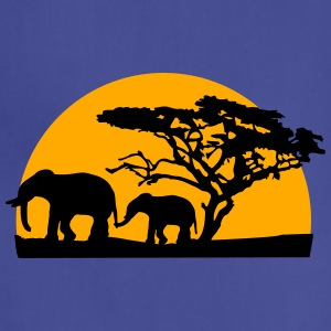 Sunset In Africa Tree And Elephants T-Shirts - Adjustable Apron