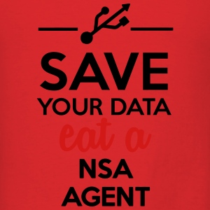 Data, Nsa satire - Save your Data eat a Nsa agent Hoodies - Men's T-Shirt