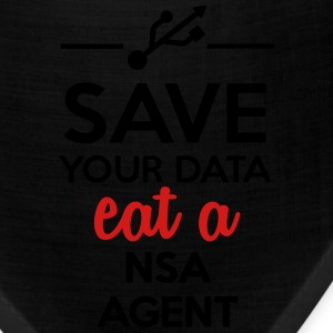 Data, Nsa satire - Save your Data eat a Nsa agent Hoodies - Bandana