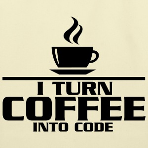 I turn coffe into code T-Shirts - Eco-Friendly Cotton Tote