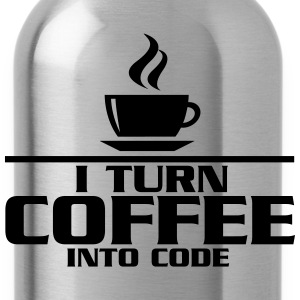 I turn coffe into code T-Shirts - Water Bottle