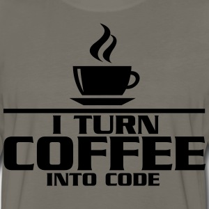 I turn coffe into code T-Shirts - Men's Premium Long Sleeve T-Shirt