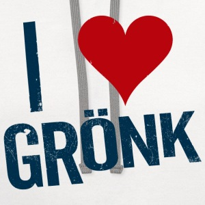 I Heart Gronk Women's T-Shirts - Contrast Hoodie