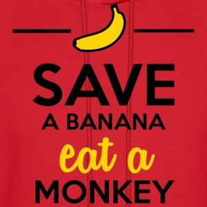 Eating monkey & bananas - Save a monkey  Women's T-Shirts - Men's Hoodie