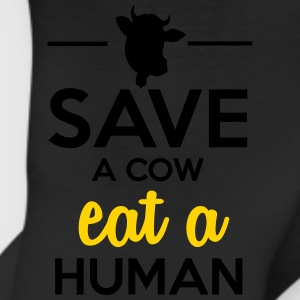 People & Pets - Save a cow eat a human Women's T-Shirts - Leggings