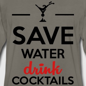 Alcohol Funshirt- Save Water drink cocktails T-Shirts - Men's Premium Long Sleeve T-Shirt
