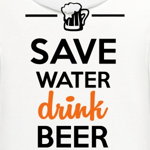 Funshirt alcohol - drink Beer Save Water T-Shirts - Contrast Hoodie
