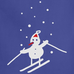 Snowman & snowflakes - V2 T-Shirts - Adjustable Apron