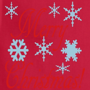 merry_christmas_snowflakes2 Women's T-Shirts - Adjustable Apron