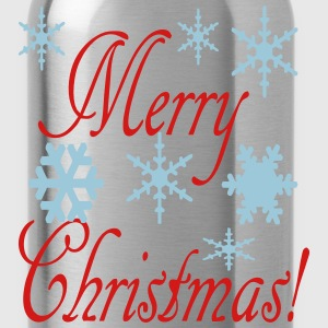 merry_christmas_snowflakes2 Women's T-Shirts - Water Bottle