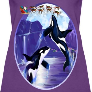 Orca Christmas Oval - Women's Premium Tank Top