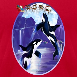 Orca Christmas Oval - Men's T-Shirt by American Apparel