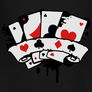 four playing cards and a banner Bags & backpacks - Toddler Premium T-Shirt