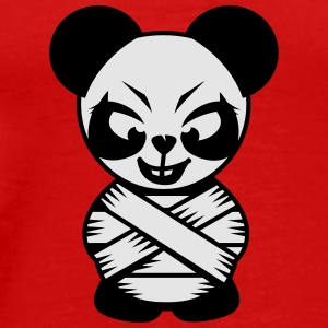 Panda bear with a straitjacket Caps - Men's Premium T-Shirt