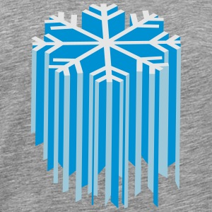 Snowflake 3D Long Sleeve Shirts - Men's Premium T-Shirt