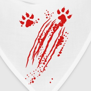 Scratch mark with blood and paws T-Shirts - Bandana