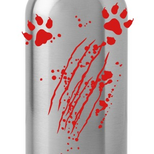 Scratch mark with blood and paws T-Shirts - Water Bottle