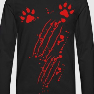 Scratch mark with blood and paws T-Shirts - Men's Premium Long Sleeve T-Shirt