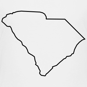 South Carolina,map,landmap,land,country,outline Kids' Shirts - Toddler Premium T-Shirt
